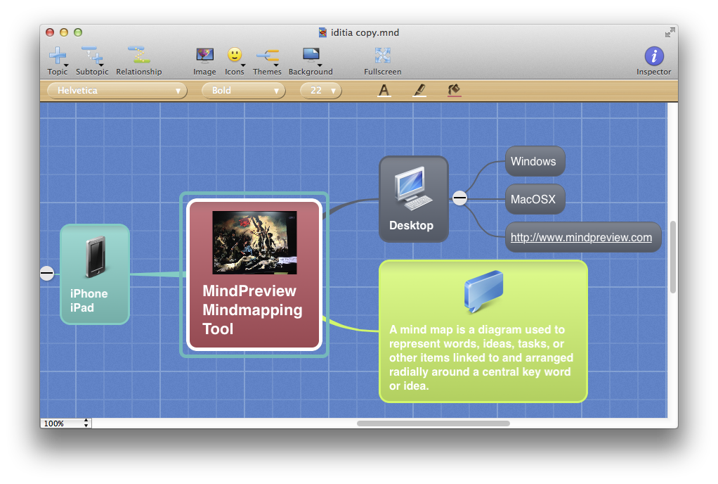 Screenshot of MindPreview for MacOSX